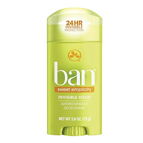 Ban Antiperspirant Deodorant, Invisible Solid, Sweet Simplicity, 2.6 Ounce