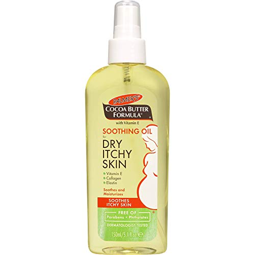 Palmer's Cocoa Butter Formula Soothing Oil for Dry, Itchy Skin with Vitamin E, 5.1 Ounces , red