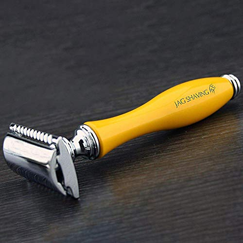 Double Edge Safety Razor- Special Yellow Color Luxury Handle || Get that Vintage Shave