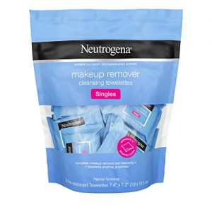 Neutrogena Makeup Remover Cleansing Towelette Singles, Daily Face Wipes to Remove Dirt, Oil, Makeup & Waterproof Mascara, Individually Wrapped, 20 ct (Pack of 2)