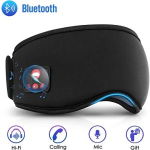Sleep Headphones Bluetooth Sleep Mask, Noise Cancelling Musical Sleep Mask, Bluetooth Sleeping Eye Mask, Wireless Sleep Earbuds, Bedphones