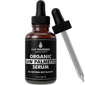 Organic Saw Palmetto Oil Serum. Stop Hair Loss Now by Hair Thickness Maximizer. Best Treatment for Hair Thinning. Hair Thickening Oils with Organic Pumpkin Seed Oil, Moringa Oil, Baobab Liquid (1 oz)