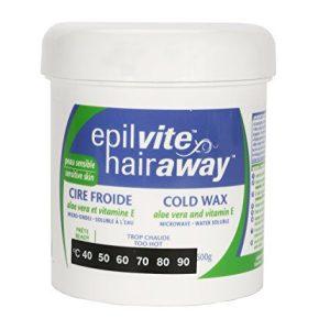 Hair Away - Cold Wax for Sensitive Skin, with Vitamin E & Aloe, 600g