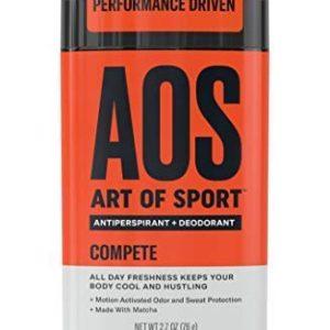 Art of Sport Men's Antiperspirant Deodorant Stick, Compete Scent, Athlete-Ready Formula with Matcha, 2.7 oz