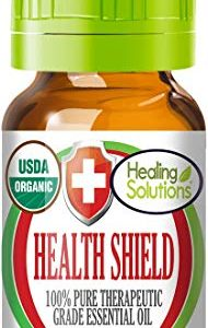Organic Health Shield Blend Essential Oil (100% Pure - USDA Certified Organic) Best Therapeutic Grade Essential Oil - 10ml