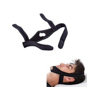 Easyinsmile Anti Snoring Solution Chin Strap Snore Stopper/Reducing Aids for Men and Woman Better Sleeping (Black)