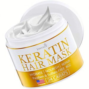 Keratin Hair Mask - Repairs Dry & Damaged Hair - Professional Keratin Hair Treatment with Avocado Oil - Aloe Vera - Vitamin E - Made in USA - Effective Keratin Complex - Anti Frizz (KERATIN)