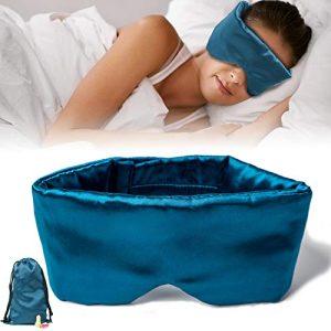 Sleep Mask for Women and Men Eye Mask for Sleeping Silk Sleep Mask Sleeping Mask Soft and Breathable Satin Fabric Updated Design Light Blocking Best Sleep Eye Mask No Pressure Night Companion