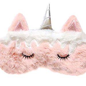 Monai Cute 3D Sleep Travel Nap Night Mask Soft Plush Blindfold Animal Sleeping Home Eye Cover for Women Girls Kids