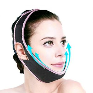 Aaiffey Facial Slimming Strap, Double Chin Reducer, Face-Lifting Belt-V Line Lifting Chin Strap for Women Eliminates Sagging Skin Lifting Firming Anti Aging