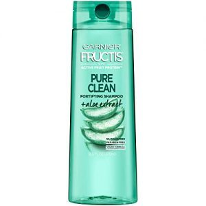 Garnier Fructis Pure Clean Shampoo, Paraben-Free Silicone-Free with Aloe Extract and Vitamin E, 12.5 Fl Oz Bottle