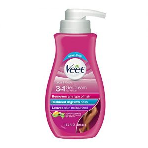 Veet Leg & Body Gel Hair Removal Cream- Sensitive Formula With Aloe Vera & Vitamin E, Keeps Skin Hydrated, Vanilla & Passion Fruit Scented,13.5 oz. (Pack of 2)