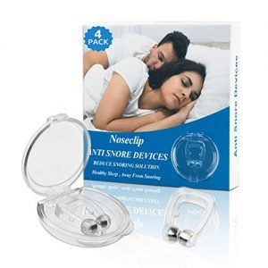 Anti Snore Devices, Snoring Stop Silicone Magnetic Anti Snore Clip, Stop Snoring Comfortable Professional Sleeping Aid Relieve Snore for Men Women(4 Pack)