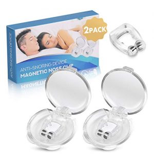 Anti Snoring Device,2 Pack Magnetic Soft Silicone Snore Nose Clip,Effective-Easy Stop Snore Solution Professional Snore Reducing Aid Help Ease Breathing Men and Women (2 PCS)