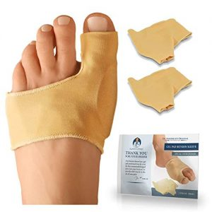 Dr. Frederick's Original Bunion Sleeves - 2 Pieces - Bootie Bunion Cushions - Gel Pad Bunion Relief Guard for Women & Men - Small - W5-6.5 | M4.5-6