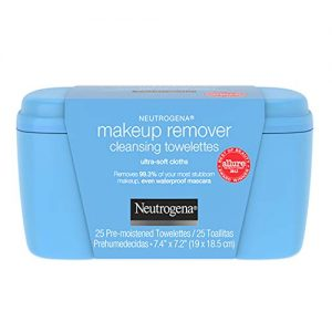 Neutrogena Makeup Remover Cleansing Towelettes, Daily Facial Wipes to Remove Dirt, Oil, Makeup & Waterproof Mascara, 25 ct.