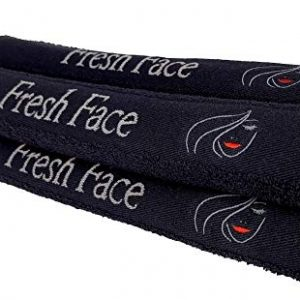 Slakeware Custom Luxury Black Makeup Remover Towel - Set of 4 Makeup Towels - 13 x 13 Face Towel, Benzoyl Peroxide Resistant for Removing Mascara, Eyeliner, and Makeup