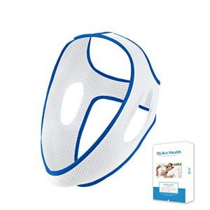 Chin Strap for CPAP Users - Effective Stop Snoring Solution, Comfortable Snore Stopper (White & Blue)
