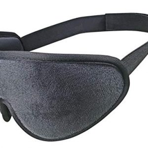 New 3D Sleep Mask,Eye Mask for Sleeping with Soft Memory Foam Contoured and Adjustable Strap Ultra Soft Skin-Friendly for Men, Women, Kids Great for Travel/Nap/Night's Sleeping-Black