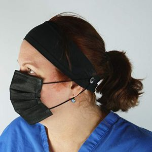 Button Headband Medical Facemask Holder for Nurses, Doctors, and Everyone Wearing a Mask - Protect Your Ears with this Headband