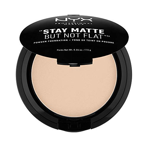 NYX PROFESSIONAL MAKEUP Stay Matte But Not Flat Powder Foundation, Nude