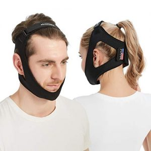 Anti Snoring Chin Strap [2020 Version] Double Adjustable Snoring Solution/Sleep Aid for Men and Women, Stopper Chin Straps for Snoring Sleeping Mouth Breathers (Black)