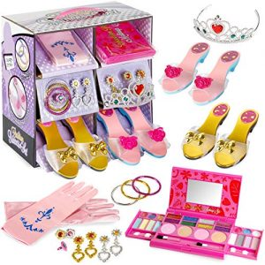 fash n kolor My First Princess Makeup Set Washable with Mirror and Dress Up Slipper Set (Makeup Set)