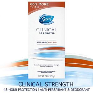 Secret Antiperspirant and Deodorant for Women, Clinical Strength Soft Solid, Sport Fresh, 2.6 Oz