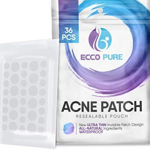 Acne Patch - Hydrocolloid Pimple Patch For Face Zits - Blemish Spot Skin Care Treatment - Invisible Dots, Waterproof, Absorbs Pus, Avoids Scar, Reduces Pain & Redness of Acne (36 Patches)
