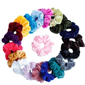 Mandydov 20 Pcs Hair Scrunchies Velvet Elastic Hair Bands Scrunchy Hair Ties