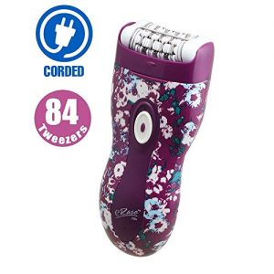 Emjoi eRase Dual Opposed 84 Tweezer Head Epilator - 84 Disc Precision Hair Removal Epilator - e84