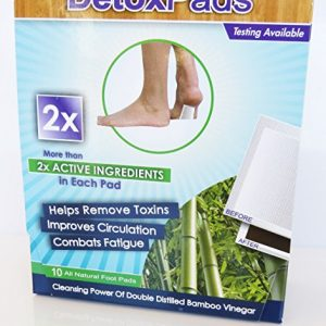 BodyPure2x Herbal Foot Pads to Remove Toxins | All-Natural Bamboo Foot Patch