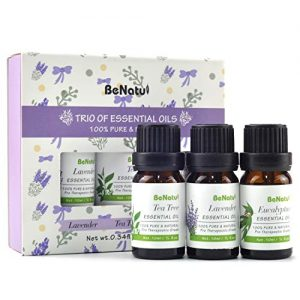Benatu Essential Oils Set - Tea Tree, Lavender, Eucalyptus - Organic Aromatherapy Kit for Diffuser, Soap & Candles Making 3 Packs - 10ml