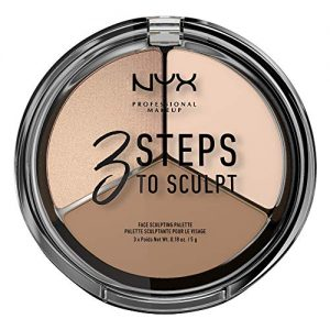NYX PROFESSIONAL MAKEUP 3 Steps to Sculpt Face Scultping Palette, Fair