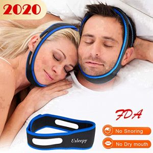 Anti Snoring Chin Strap, Comfortable Natural Snoring Solution Snore Stopper, Most Effective Anti Snoring Devices Stop Snoring Sleep Aid Snore Reducing Aids for Men and Women(Blue)