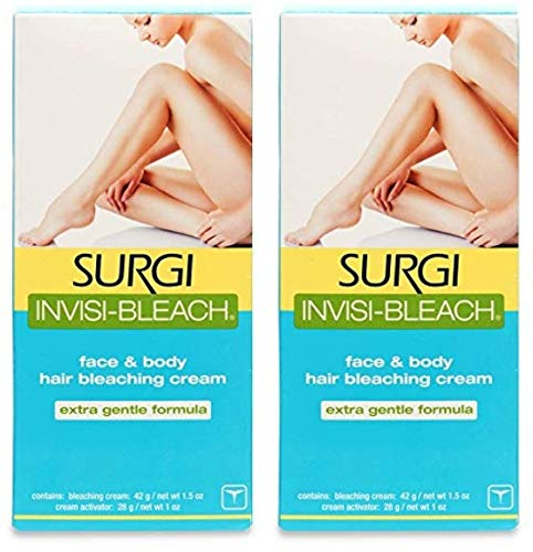 Surgi Invisi-Bleach Face and Body Hair Bleaching Cream 1.5 oz (Pack of 2)