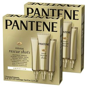 Pantene, Rescue Shots Hair Ampoules Treatment, Intensive Repair of Damaged Hair, Pro-V, 1.5 Fl Oz, Twin Pack