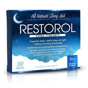 Restorol | Natural Sleep Aid – Relief from Jet Lag & Sleep Deprivation – Regulate Sleep Cycle – Get Restful Sleep (30ct)