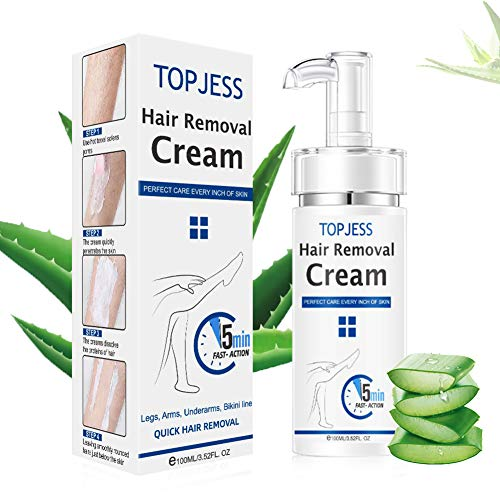 Hair Removal Cream, Depilatory Cream, Prevent Hair Growth, No Irritation, Moisturizing and Soothing Depilatory Cream for Body Hair, Skin Friendly & Painless Flawless Hair Remover