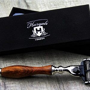 Haryali Mens Shaving Safety Razor-Wooden Handle