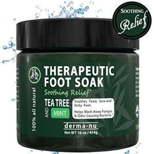 Tea Tree Oil Foot Soak Antifungal with Epsom Salt, Dead Sea Salt, MSM & Tea Tree Oil. Helps Treat Nail Fungus, Calluses, Eliminate Foot Odor, Sore Feet & Muscles, Arthritis & Itchy Skin