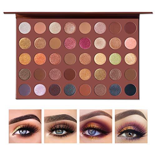 UCANBE Pro Choco Fusion Bronze Eyeshadow Makeup Palette, 40 Highly Pigmented Metallic Matte Shimmer Glitter Ultra Neutral Blendable Creamy Eye Shadow Pallet Set Kit