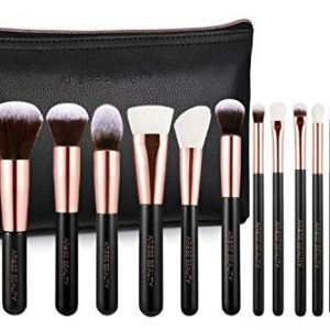 Arose Beauty Rose Gold Luxury Brush Set 12pc Makeup Face & Eye Essentials | Premium Quality Handcrafted Soft and Plush