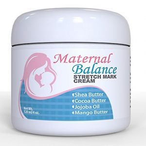 Maternal Balance Stretch Mark Cream for Pregnancy and After, C-Section Scar Treatment with Cocoa Butter and Shea Butter