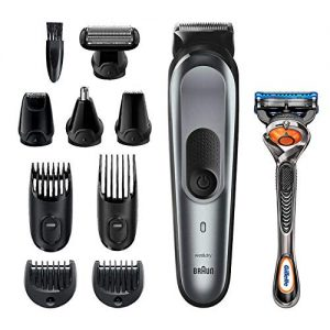 Braun 10-in-1 Trimmer MGK7221 Beard Trimmer for Men, Body Grooming Kit