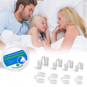 THXMADAM Snoring Solution,Anti Snoring Devices,8 Set Stop Snoring Nose Vents Nasal Dilator Comforable Sleeping Aid Snoring Reducing for Kids Men Women