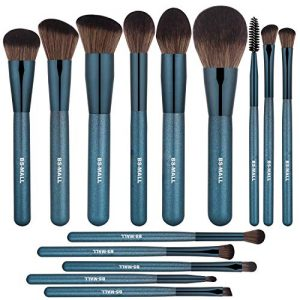 BS-MALL Makeup Brush Set 14Pcs Premium Synthetic Professional Makeup Brushes Foundation Powder Blending Concealer Eye shadows Blush Makeup Brush Kit Deep Starry Blue