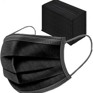 Bobioy 50PCS,Black, Protected/Health,Non-woven Fabric