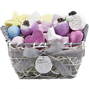 Mother's Day Gifts, Bath Bombs Gift Set for Women – 17 Large Bath Fizzies in Assorted Colors, Shapes & Scents – Bath and Body Spa Set with Shea & Coco Butter – Ultra Rich Spa set in Hand Weaved Basket