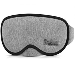 Upgraded Sleep Mask, VOLUEX Sleeping Masks for Men Women Kids, 100% Blocking Light, Breathable Memory Foam with Cotton, Adjustable Washable Contoured 3D Eye Mask for Sleeping Blindfold Mask for Travel